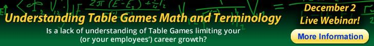 Understanding Table Games Math Webinar